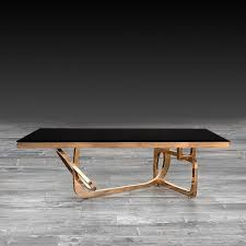 flow rose gold coffee table flow