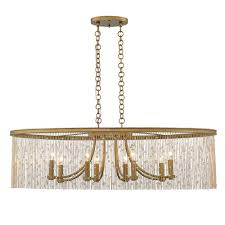golden lighting marilyn cry 8 light peruvian gold chandelier with crystal strands shade
