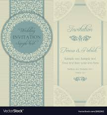 Baroque Wedding Invitations Baroque Wedding Invitation Blue And Beige Vector Image