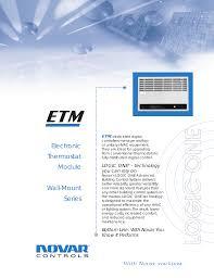 Novar Lighting Controls Electronic Thermostat Module Wall Mount Series Manualzz Com