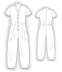 Free Sewing Patterns Online Best Jumpsuit With Decorative Pockets Sewing Pattern 48 Madeto