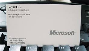 microsoft business card visiting card in microsoft word pro thai tk