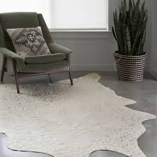 perspective cowhide rug clayton ivory champagne faux 6 2 x 8 free