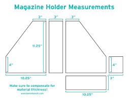 Magazine Holder Template Gorgeous Magazine Holder Diy WoodWorking Projects Plans