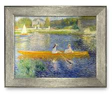 get quotations framed art prints the seine at asnieres by pierre auguste renoir famous painting on famous wall art prints with cheap famous art prints for sale find famous art prints for sale