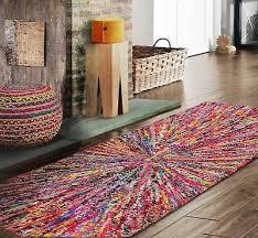 handmade modern contemporary funky starbrust area rug runner
