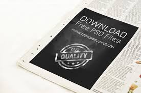 Newspaper Template For Photoshop Newspaper Advert Template Photoshop Psd