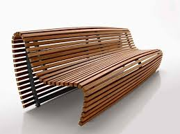 original design bench  teak  with backrest  by naoto fukasawa