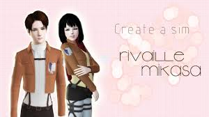Create a sim [Mikasa and Rivaille] - Sims 3 - YouTube