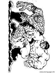Small Picture the thing and incredible hulk Coloring pages Printable