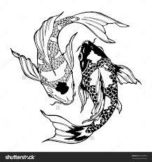 картинки по запросу рыбки кои рисунок For Work карп тату