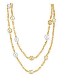 10-11mm <b>Golden</b> & <b>White</b> South Sea Multicolor Pearl & Gemstone ...