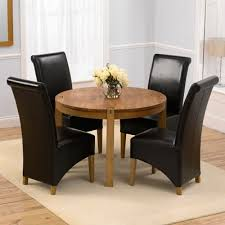 vermont solid oak round dining table with 4 bromley chairs 3847