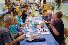 Soup Kitchen Meal Many Help Give Weekly Meals At Cluster Soup Kitchen Program In