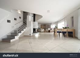 Huge Living Room New Apartment Large Living Room Stairs Stock Photo 70825366