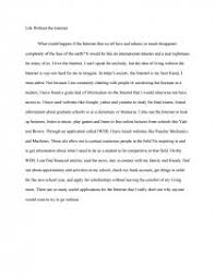 life out the internet essay similar essays