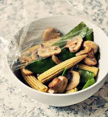 with leftover vegetable stir fry