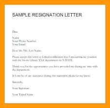 Examples Of Resignation Letters Classy Sample Resignation Letter Template Word Of Example Ecosolidarioco