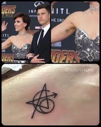 Scarlett Johansson Had The Tattoo Already Avengersinfinitywar