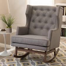 baxton studio iona mid century retro modern. Baxton Studio Iona Mid-Century Gray Fabric Upholstered Rocking Chair Mid Century Retro Modern G