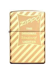 <b>Зажигалка Vintage Box</b> Top с покрытием High Polish Brass Zippo ...