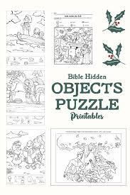 In the first printable, kids are asked to search for twelve hidden objects in scene filled with sea creatures and scuba diving animals. 5 Best Bible Printables Hidden Objects Puzzle Printablee Com