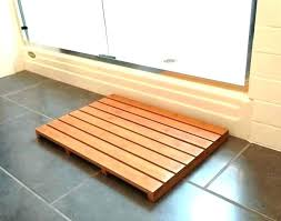 wooden shower floor cedar teak inserts hardwood mat idea for modern australia
