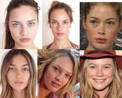 victoria 39 s secret angel supermodels without makeup