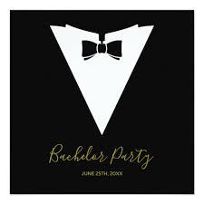 Black Tie Theme Bow Tie Tuxedo Theme Vzs2 Bachelor Party Invitation