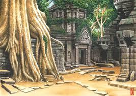 cozy angkor wat painting temple by angkor wat paintings