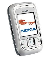 nokia slide phone. nokia 6111 silver/grey slide phone - sim free t