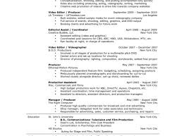 Television Producer Resume Click Video Ada Coordinator Cover