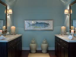 Bathroom Fish Decor Bahtroom Pastel Wall Paint For Nautical Bathroom Decor Ideas With