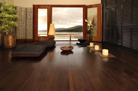 Interior Beach House Views Profiled Brown Dark Wood Floor With Large