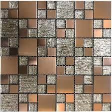 cut sample lunar copper metal glass modular mosaic