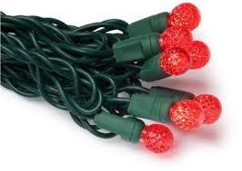 gkibethlehem lighting 35 light faceted berry led light set red bulbs green wire buy gki bethlehem lighting
