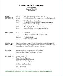 One Page Resume Sample Single Page Resume Template Resume Example ...