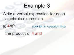 write algebraic expressions worksheets 6 translating verbal phrases
