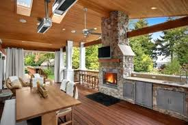 outdoor kitchen with patio designs big green egg ideas