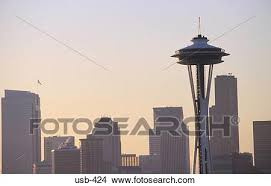 Seattle Cityscape Seattle Cityscape With Space Needle Usa Picture Usb 424