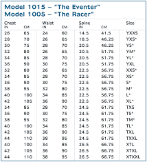 jockey size chart tipperary racer jockey vest model 1005 by phoenix performance