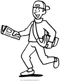 Disegno Paperboy Categoria Persone Da Colorare