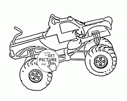 Monster Truck Coloring Pages Free With Printable 100 Trucks Book