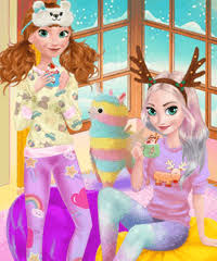 frozen sisters cozy time dress up game