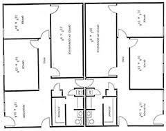 front office layout. plan 3 large offices and conference rooms front office layout u