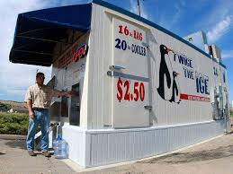 Stand Alone Ice Machine Vending Cool Ice Man Carves Niche In Western Slope Area