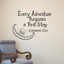 Alice In Wonderland Quote Best Alice In Wonderland Wall Decals Quotes Cheshire Cat Every Adventure