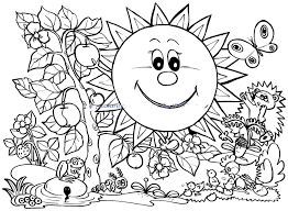 Free Printable Coloring Pages Spring Genuine Spring Colouring Page