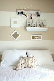 wall decoration ideas nursery traditional with white bedding wall shelves