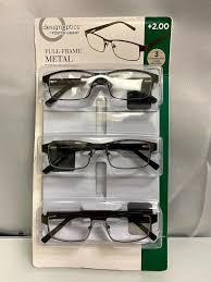 Design Optics Full Frame Flexible Plastic Design Optics By Foster Grant Full Frame Metal Reading Glasses 3 Pack